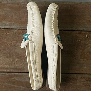 Enzo Angiolini Shoes - Enzo Angiolini Leather and Turquoise Mules